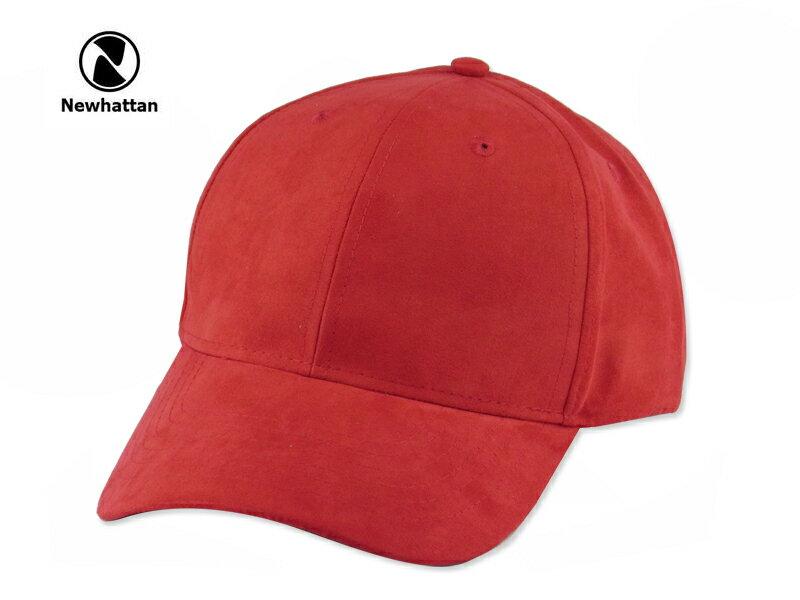 ☆NEWHATTAN【ニューハッタン】SUEDE CAP RED スエード キャップ レッド 15353 [2016 無地 シンプル メンズ レディース] 10P01Mar15