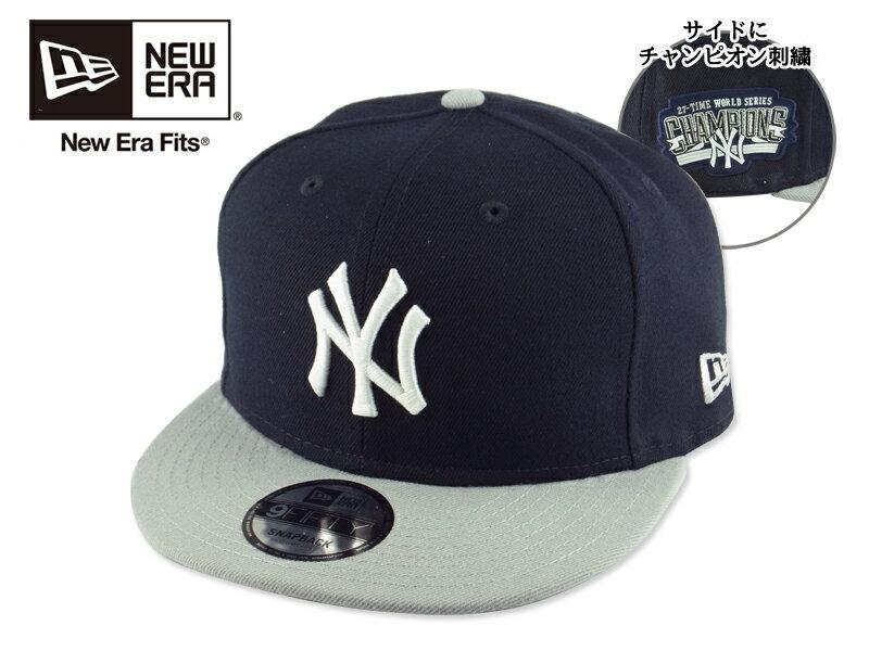☆NEWERA【ニューエラ】9FIFTY VICTORY SIDE SNAP NEWYORK YANKEES NAVY/GREY ニューヨーク ヤンキース キャップ ネイビー/グレー 15456 [MLB メンズ レディース] 10P05Dec15