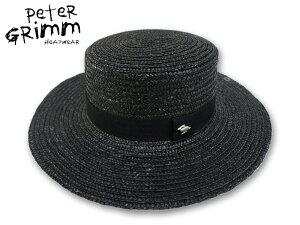 ☆PETER GRIMM【ピーターグリム】Lupe BLACK ストローハット ルーペ ブラック 15667 [メンズ レディース 麦わら帽]