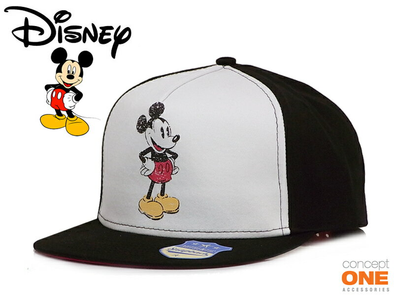☆CONCEPT ONE【コンセプトワン】MICKEY MOUSE DISTRESSED PRINT SNAPBACK ミッキーマウス スナップバック 11651 13584 [DISNEY ディズニー] 10P05Sep15