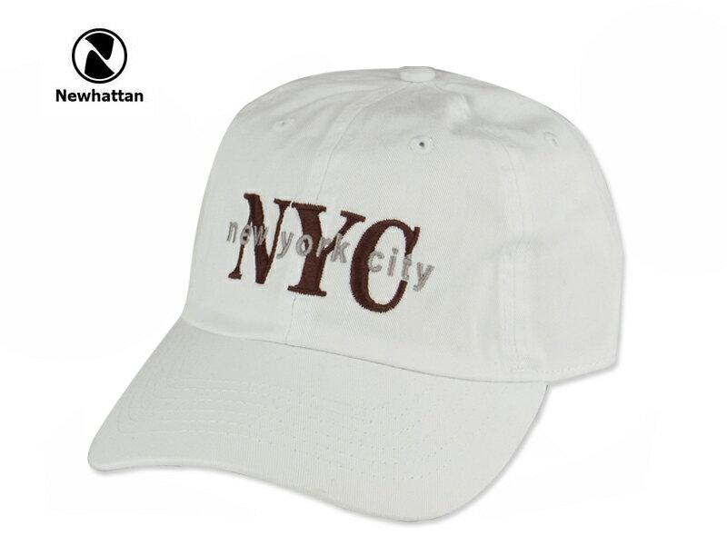 ☆NEWHATTAN【ニューハッタン】COTTON STONE WASH-NYC WHITE コットン ストーンウォッシュド ニューヨークシティー キャップ ホワイト 14448