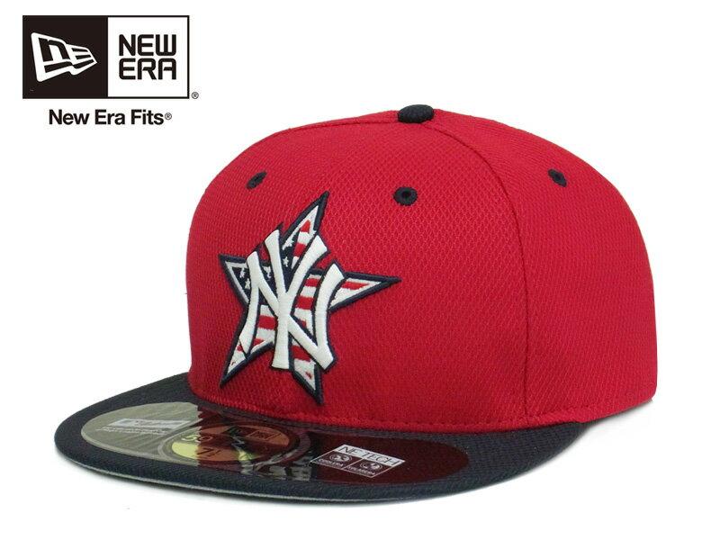 ☆【送料無料】NEWERA【ニューエラ】59FIFTY NEWYORK YANKEES MLB 2014 ACJuly 4th Stars&Stripes RED/NAVY ヤンキース 独立記念日モデル レッド/ネイビー 12461 12469[イチロー 田中将大 メンズ レディース] 10P03Sep16
