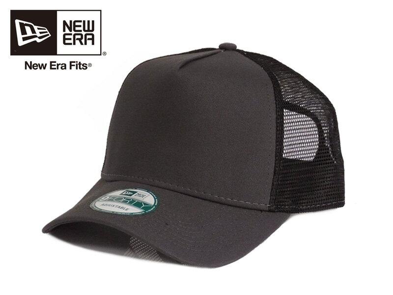 ☆NEWERA【ニューエラ】9FORTY SNAPBACK TRUCKER CAP NE205 GRAPHITE/BLACK スナップバック トラッカーメッシュキャップ グラファイト/ブラック 13144 [無地 カスタム シンプル 野球帽] 10P03Sep16