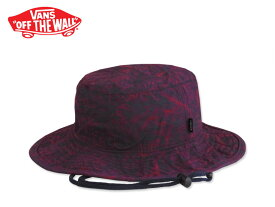a28b988a842f9 ☆VANS バンズ BOONIE BUCKET HAT Red Open Leaf ブーニー バケットハット レッドリーフ