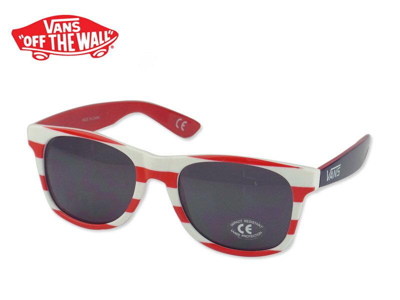☆VANS【バンズ】SPICOLI 4 SHADES White/Racing Red/Blueprint スピコリフォーシェードス サングラス ホワイト/レッド/ネイビーブルー 11458 13210【UVカット】10P26Mar16