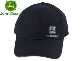 ☆JOHN DEERE【ジョンディア】Un-Structured&Un-Washed CAP BLACK サイドロゴキャップ ブラック 19230