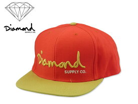 DIAMOND SUPPLY【ダイアモンド サプライ】 OG Script Snapback RED/TAN/WHITE スクリプトロゴ レッド/タン/ホワイト スナップバック 14249[2015 メンズ レディース]10P19Dec15