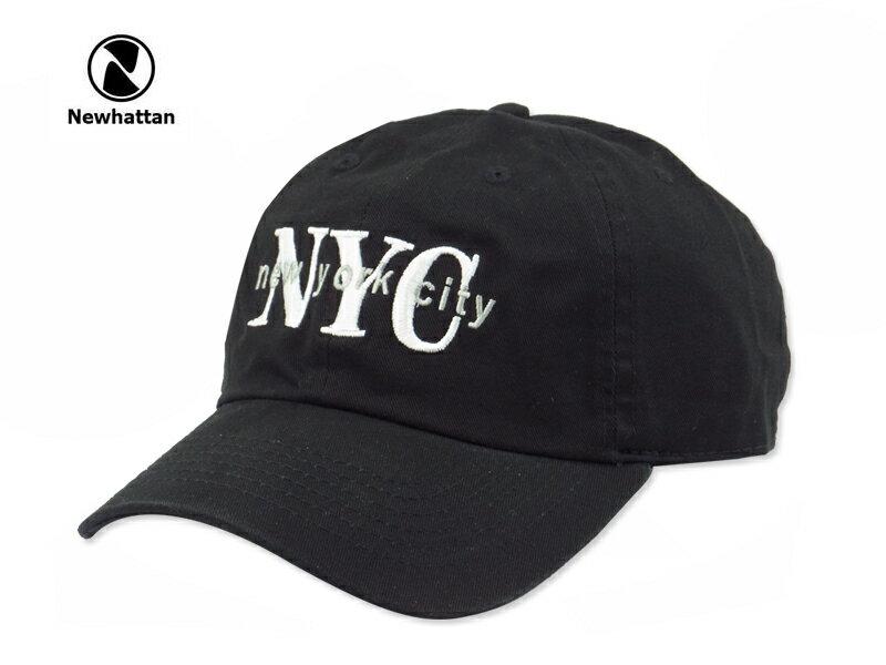 ☆NEWHATTAN【ニューハッタン】COTTON STONE WASH-NYC BLACK コットン ストーンウォッシュド ニューヨークシティー キャップ ブラック 14448