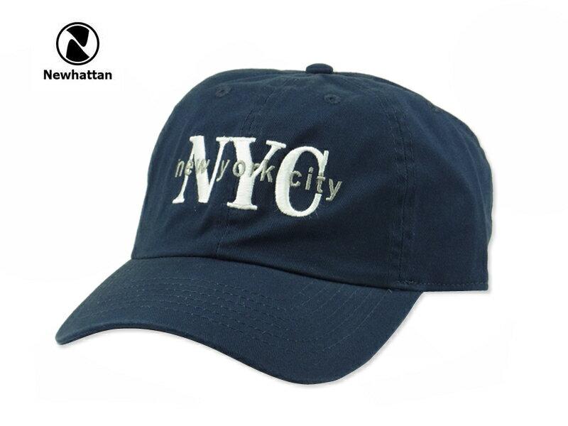 ☆NEWHATTAN【ニューハッタン】COTTON STONE WASH-NYC NAVY コットン ストーンウォッシュド ニューヨークシティー キャップ ネイビー 14448