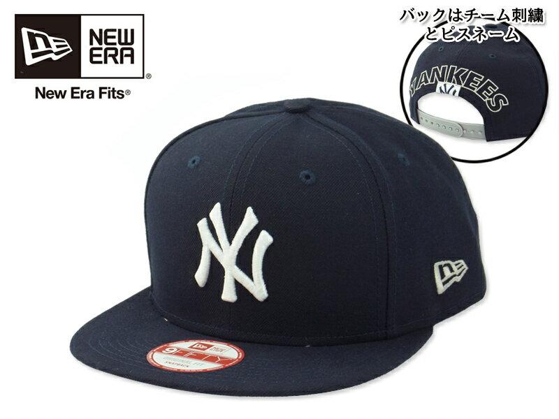 ☆NEWERA【ニューエラ】9FIFTY NEWYORK YANKEES BLOCK BACK DARK NAVY ニューヨーク ヤンキース ブロックバック ダークネイビー 14571 [メンズ レディース]【送料無料】10P03Sep16