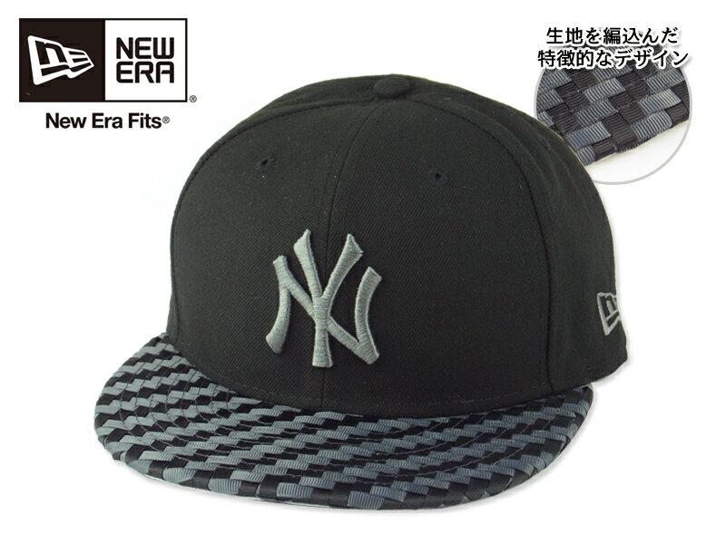 ☆NEWERA【ニューエラ】59FIFTY VISOR CHECKED NEWYORK YANKEES BLACK/GRAPHITE ニューヨーク ヤンキース キャップ ブラック/グラファイト 14839 [MLB メンズ レディース] 10P05Dec15