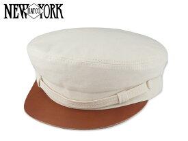 ☆NEWYORK HAT【ニューヨークハット】#6222 Canvas Fiddler w/Raw Leather Natural フィドラー マリンキャップ ナチュラル 15703