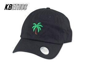 ☆KB ETHOS【ケービー エソス】 PALM TREE DAD HAT CAP BLACK ハンズ ダッドハット パームツリー ブラック 15932 [ヤシ メンズ レディース] 10P05Sep15