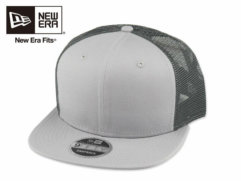 ☆NEWERA【ニューエラ】ORIGINAL FIT TRUCKER CAP NE403 GREY フィットトラッカー キャップ グレー 15930[無地 カスタム シンプル 野球帽] 10P03Sep16