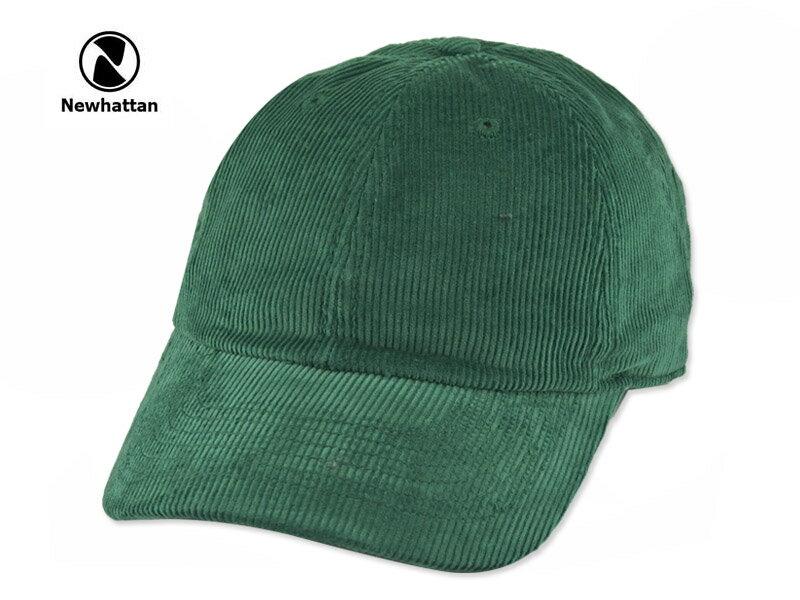 ☆NEWHATTAN【ニューハッタン】CORDUROY CAP DARK GREEN コーディロイ キャップ ダークグリーン 15164 [2016 無地 シンプル メンズ レディース] 10P01Mar15