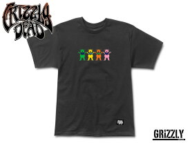 ☆GRIZZLY X GRATEFUL DEAD 【グリズリーグ×グレイトフル・デッド】BIG HAPPY FAMILY TEE BLACK Tシャツ ブラック 16126 [メンズ レディース]