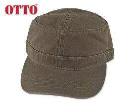 ☆オットー【OTTO】ワッシュドコットンツウィルミリタリーキャップ ワークキャップ オリーブ 11429 16656