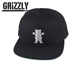GRIZZLY【グリズリーグ】OG BEAR SNAPBACK BLACK スナップバックキャップ ブラック 16750 [メンズ レディース]