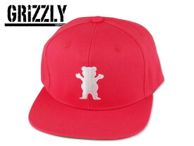GRIZZLY【グリズリーグ】OG BEAR SNAPBACK RED スナップバックキャップ レッド 16750 [メンズ レディース]