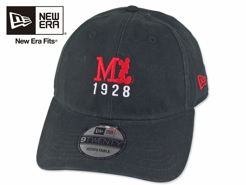 ☆NEWERA×MICKEY【ニューエラ】1928 MICKEY MOUSE BLACK ミッキーマウス ブラック 16741 [メンズ レディース]