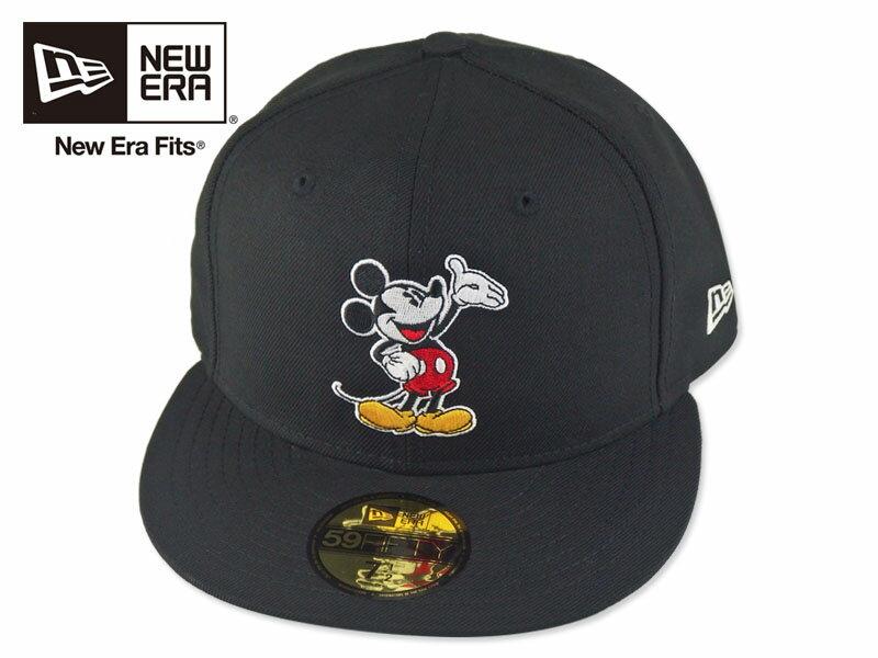 ☆NEWERA×MICKEY【ニューエラ】59FIFTY WAVING MICKEY MOUSE BLACK ミッキーマウス ブラック 16738 [メンズ レディース]