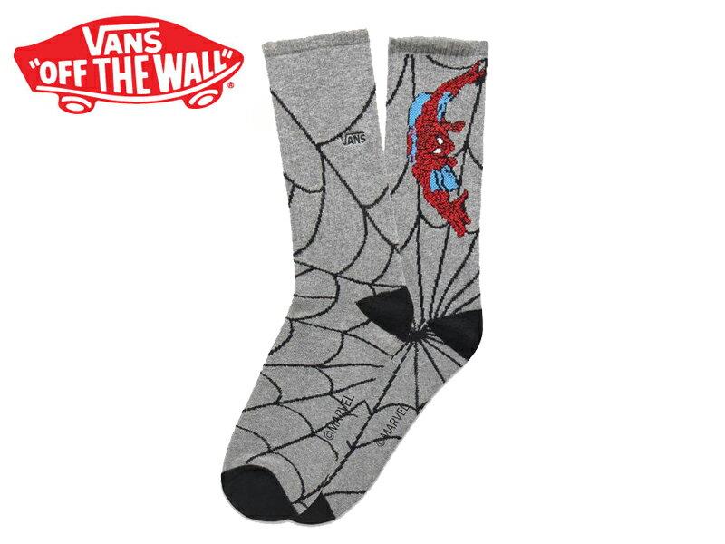 ☆VANS X MARVEL【バンズ×マーベル】SPIDERMAN SOCKS HEATHER GREY スパイダーマン ソックス ヘザーグレー 16783 [靴下 SKATE SK8 スケボー ヴァンズ]  10P18Jun16