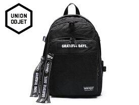 ☆UNION OBJET【ユニオンオブジェ】3D MESH BACKPACK M03 BLACK/BLACK 3Dメッシュ バックパック ブラック/ブラック 16862[メンズ レディース 韓国 EXO リュック アウトドア bag バッグ 旅行 遠足 通学 通勤]