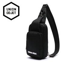 ☆UNION OBJET【ユニオンオブジェ】SLING BAG BLACK ショルダーバッグ ブラック 16868[メンズ レディース 韓国 EXO リュック アウトドア bag バッグ 旅行 遠足 通学 通勤]