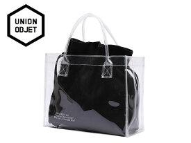 ☆UNION OBJET【ユニオンオブジェ】CLEAR BAG BLACK クリアーバッグ ブラック 16863[メンズ レディース 韓国 EXO リュック アウトドア bag バッグ 旅行 遠足 通学 通勤]