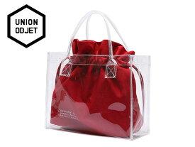 ☆UNION OBJET【ユニオンオブジェ】CLEAR BAG RED クリアーバッグ レッド 16863[メンズ レディース 韓国 EXO リュック アウトドア bag バッグ 旅行 遠足 通学 通勤]