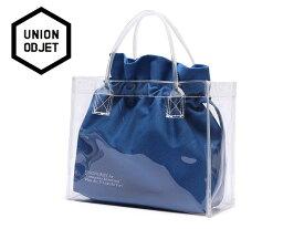 ☆UNION OBJET【ユニオンオブジェ】CLEAR BAG BLUE クリアーバッグ ブルー 16863[メンズ レディース 韓国 EXO リュック アウトドア bag バッグ 旅行 遠足 通学 通勤]