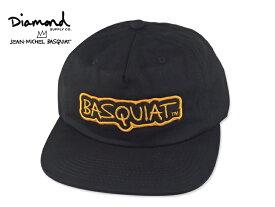 ☆DIAMOND SUPPLY X BASQUIAT【ダイヤモンドサプライ×バスキア】SIGN UNST STRAPBACK CAP BLACK ストラップバック ブラック 17052