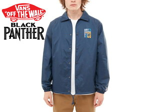 ☆VANS X MARVEL【バンズ×マーベル】BLACK PANTHER TORREY COACH JACKET DRESS BLUE ブラックパンサー コーチジャケット 17054 [SKATE SK8 スケボー ヴァンズ]  10P18Jun16