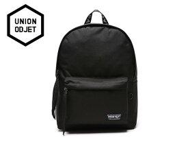 ☆UNION OBJET【ユニオンオブジェ】CANVASBAG BLACK (BLACK/WHITE) バッグ ブラック ブラック/ホワイト 17248[メンズ レディース 韓国 EXO リュック アウトドア bag バッグ 旅行 遠足 通学 通勤]