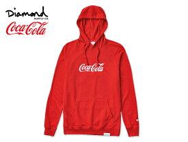 ☆DIAMOND SUPPLY×Coca-Cola【ダイアモンド サプライ×コカ・コーラ】PHOTO HOODIE RED フォト フーディー レッド 17521 [メンズ レディース]