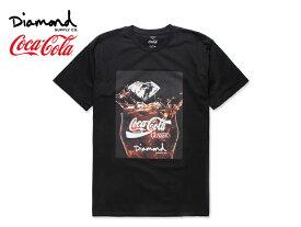 ☆DIAMOND SUPPLY×Coca-Cola【ダイアモンド サプライ×コカ・コーラ】PHOTO T-SHIRTS BLACK フォト Tシャツ ブラック 17518 [メンズ レディース]