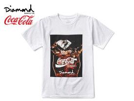 ☆DIAMOND SUPPLY×Coca-Cola【ダイアモンド サプライ×コカ・コーラ】PHOTO T-SHIRTS WHTIE フォト Tシャツ ホワイト 17518 [メンズ レディース]