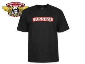 ☆POWELL PERALTA【パウエル・ペラルタ】Supreme T-SHIRTS BLACK シュプリーム Tシャツ ブラック 17629 [半袖 SKATE SK8 スケボー SUPREME]10P30Nov14