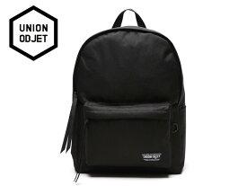 ☆UNION OBJET【ユニオンオブジェ】CANVASBAG BLACK (BLACK/BLACK) バッグ ブラック/ブラック 17248[メンズ レディース 韓国 EXO リュック アウトドア bag バッグ 旅行 遠足 通学 通勤]