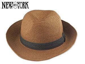 ☆NEWYORKHAT【ニューヨークハット】#7140 STRAW SETTLER BROWN ストローセトラー ブラウン 13505