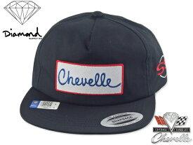 ☆DIAMOND SUPPLY X CHEVELLE【ダイヤモンド×シボレー】SUPER SPORT HAT BLACK スナップバック キャップ 18194