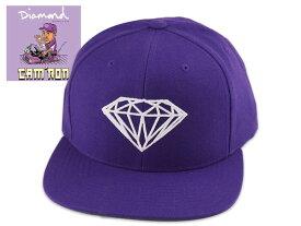 ☆DIAMOND SUPPLY X CAM'RON【ダイヤモンド×キャムロン】Brilliant Snapback Purple スナップバック キャップ パープル 18355