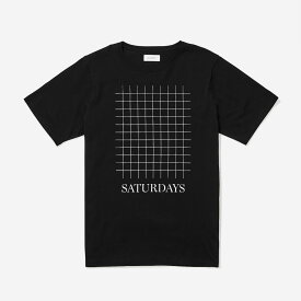 【あす楽対応】Saturdays Surf NYC Saturdays Grid T-Shirt Black サタデーズサーフ グラフィック ロゴ Tシャツ 半袖 ブラック