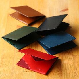 薄いマネークリップabrAsus ブッテーロレザーエディション−特別な構造で、厚さ6mm。最もシンプルで、最も使いやすいカタチを追求。マネークリップ カードケース 札ばさみ 二つ折り 薄い イタリア産高級レザー 本革 小銭 革小物 アブラサス スーパークラシック