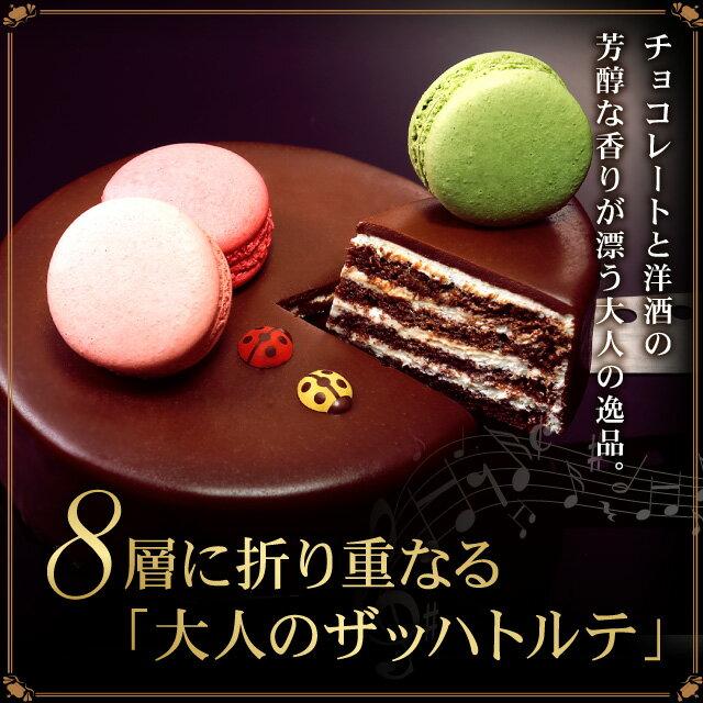 ザッハトルテ 送料無料 5号 誕生日ケーキ バースデーケーキ大人[凍]チョコレートケーキ チョコ ケーキ 誕生日ギフト お誕生日ケーキ お中元 お菓子 スイーツ