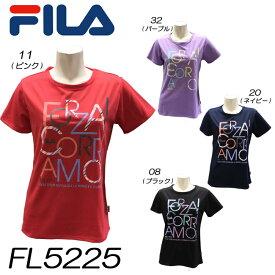 【送料無料】Tシャツ フィラ FILA 半袖 レディースTシャツ フィットネスウェア 女性用 トップス ダンス エアロビクス エクササイズ フィットネス【FL5225】