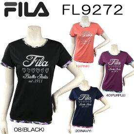【送料無料】FILA フィラ 半袖 Tシャツかわいい オシャレ 女性用プリント柄 おすすめ トップスダンス エアロビクス エクササイズ フィットネス【FL9272】