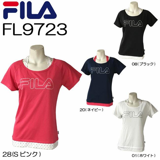 【送料無料】【FL9723】FILA 半袖 Tシャツかわいい オシャレ 女性用プリント柄 おすすめ トップスダンス エアロビクス エクササイズ フィットネス 05P21May14