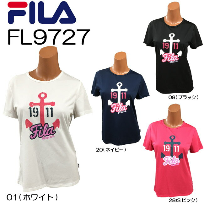 【送料無料】【FL9727】FILA 半袖 Tシャツかわいい オシャレ 女性用プリント柄 おすすめ トップスダンス エアロビクス エクササイズ フィットネス 05P21May14