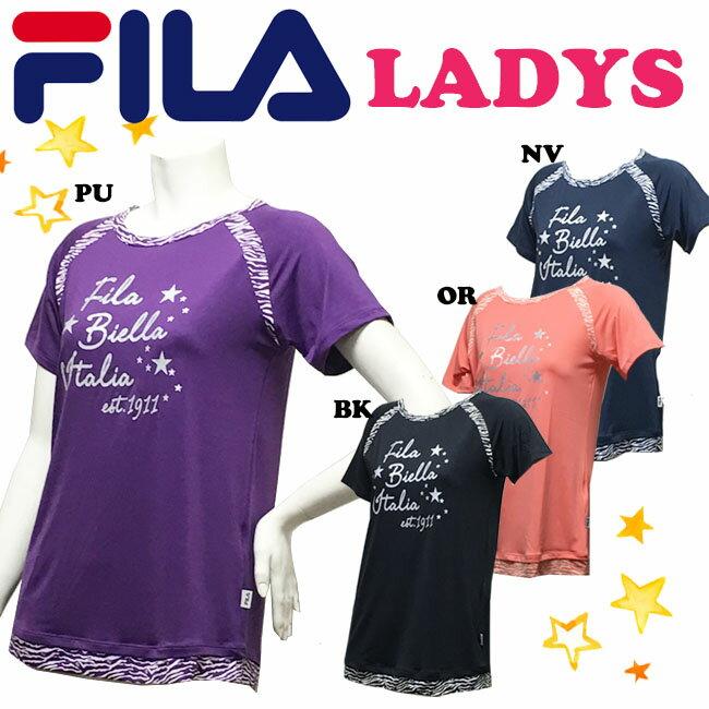 【送料無料】【FL9578】 FILA フィラ Tシャツ 女性用文字プリント トップスダンス エアロビクス エクササイズ フィットネス レディース おしゃれ  05P21May14
